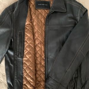 MARC NEW YORK QUILTED LINED LEATHER COAT/JACKET